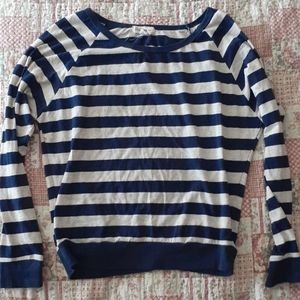 One Step Up Blue Striped Tee